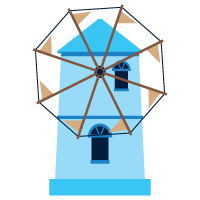 blue windmill