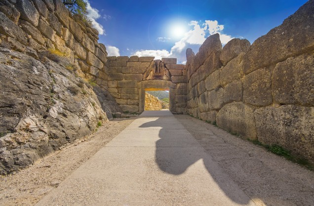 the gate of the Lions in Mycenae