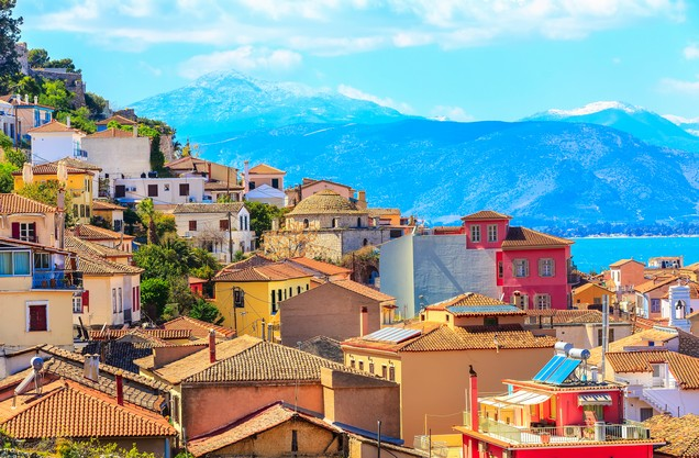 picturesque colorful houses in Nafplio