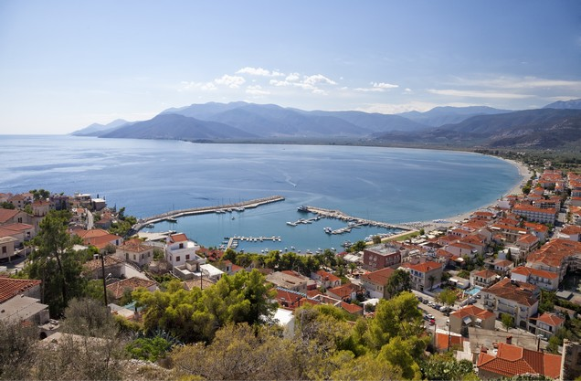 the port of Nafplio from above