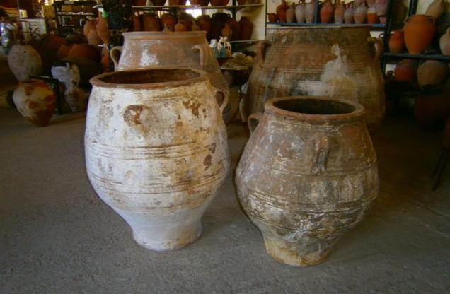 jars in a ceramic pottery workshop