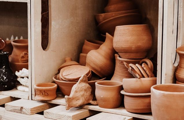 pile of ceramic vessels