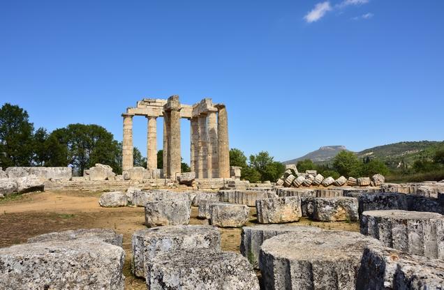 Temple in ancient Nemea stadium