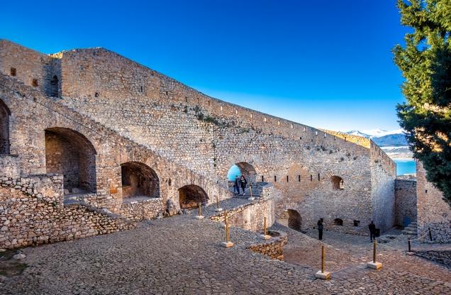 the interior of the site in Palamidi in Nafplio