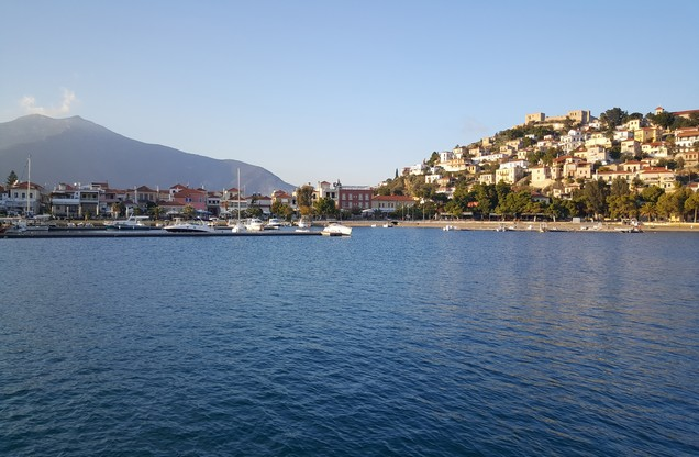 the view of the port of Nafplio from the sea