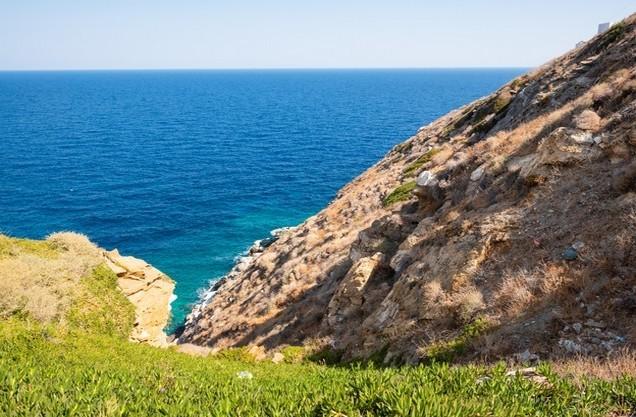 the Karathona beach from above