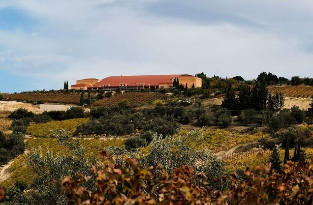 view of the winery in Nemea