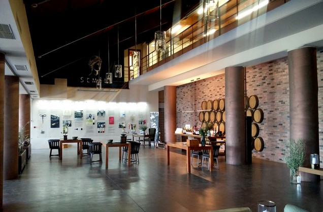 the interior of the winery in nemea