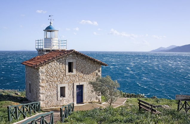 Lighthouse in Paralio Astros Peloponnese Greece