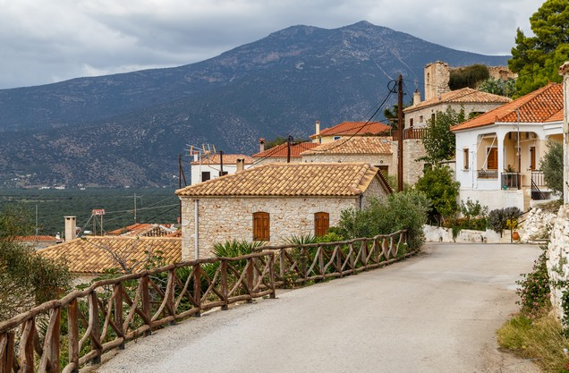 picturesque stone houses in the area of Agios Petros Kynourias