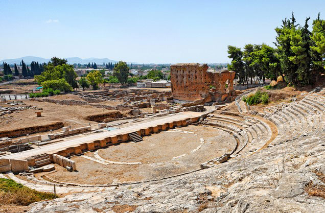 Argos Tour: perspective of the ancient theater of Argos