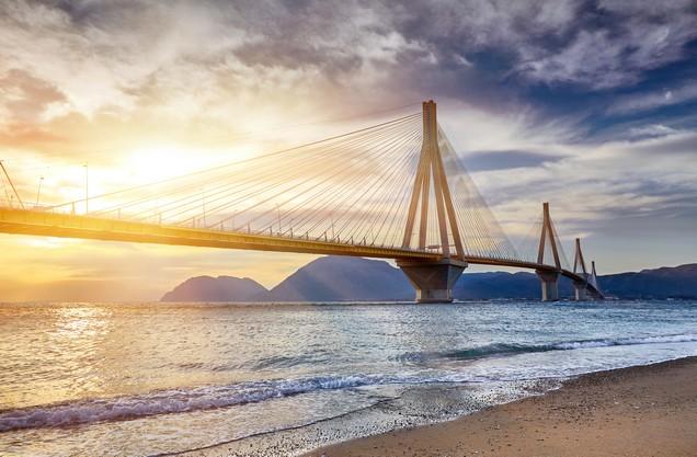 Rio - Antirrio bridge near Patra