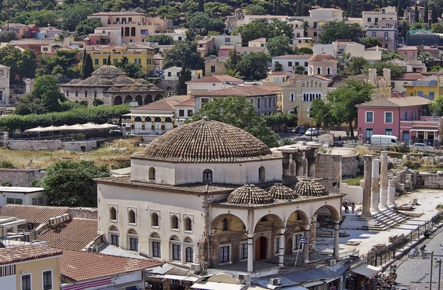 mosque in Monastiraki in the center of Athens