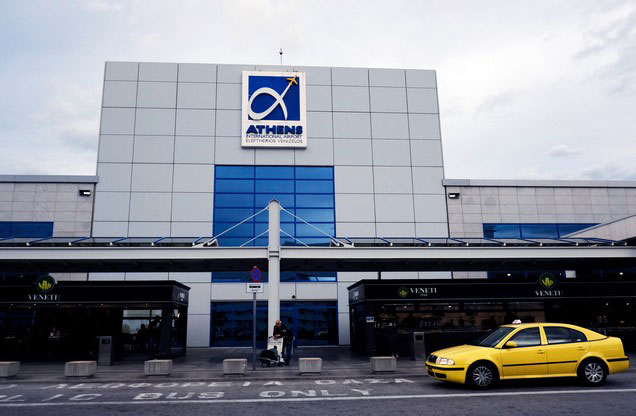Athens Airport El.Venizelos to or from Sparta or Mystras: the entrance of Athens airport