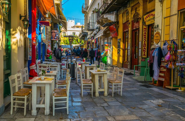 Athens Gastronomy City Tour: picturesque alley in the center of Athens
