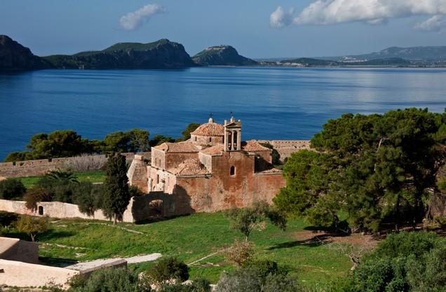 Byzantine church in the Navarino bay