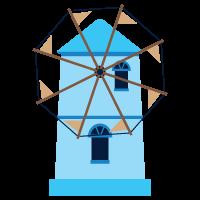 γαλάζιος ανεμόμυλος