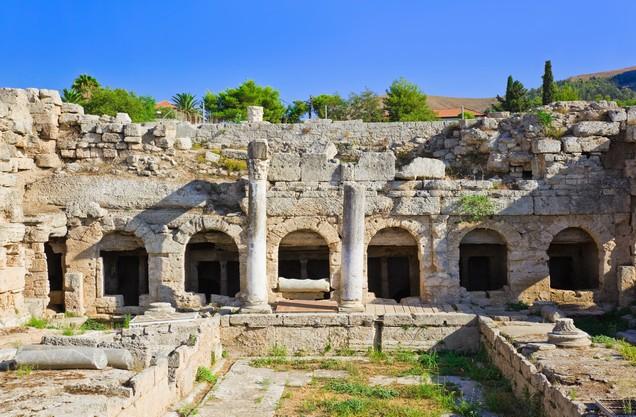 Ρωμαϊκά λουτρά στην αρχαία Κόρινθο, Ελλάδα
