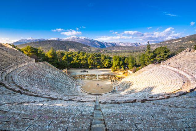 άποψη του αρχαίου θεάτρου της Επιδαύρου