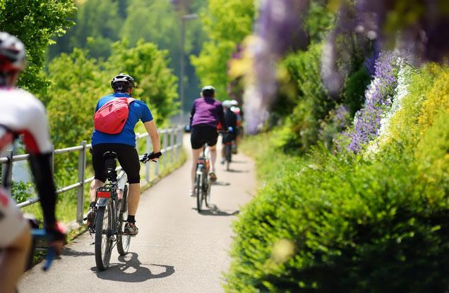 Ποδηλασία Ναύπλιο - Άστρος: ποδηλάτες στο Ναύπλιο ποδηλασία