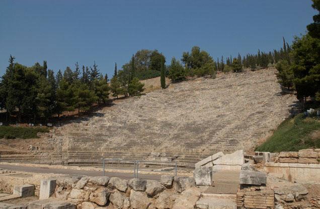 προοπτική του αρχαίου θεάτρου του Άργους