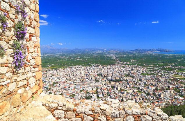 θέα της πόλης του Άργους από το κάστρο