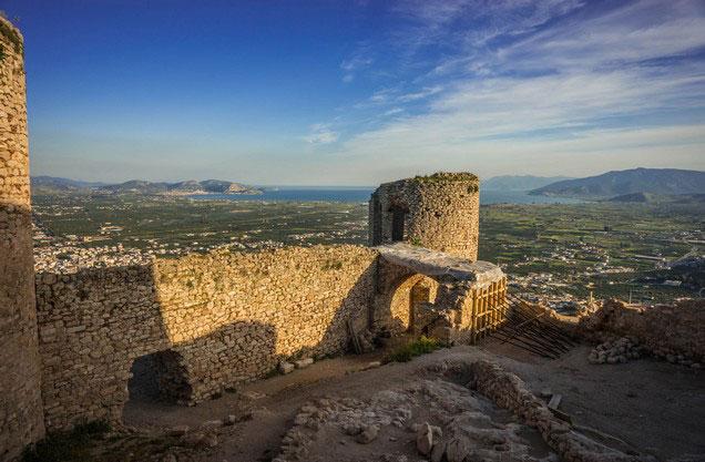 η θέα από το κάστρο του Άργους