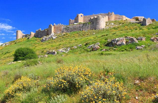 Περιήγηση στο Άργος: άποψη του κάστρου στον καταπράσινο λόφο πάνω από την πόλη του Άργους