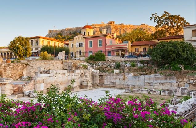 θέα της Ακρόπολης των Αθηνών από την πλάκα