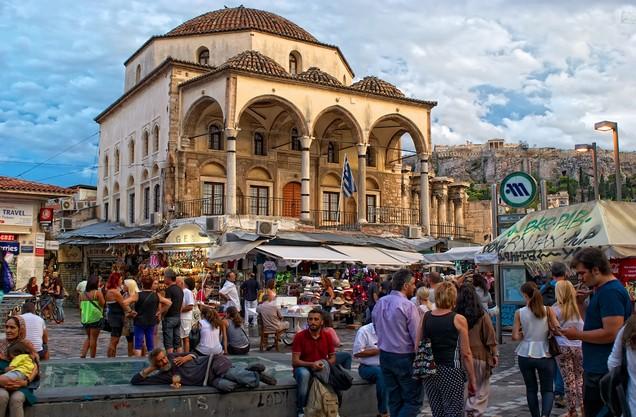τζαμί στην πλατεία στο Μοναστηράκι στο κέντρο της Αθήνας